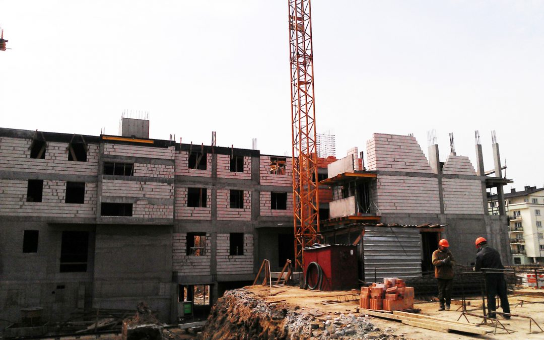 Realizacja robót murowo-żelbetowych w Białymstoku przy ul. Ryskiej – budynek D,