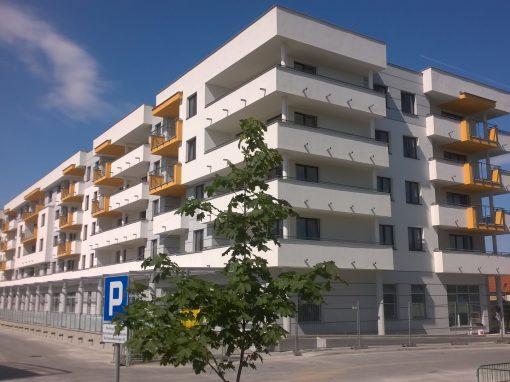 Realizacja robót murowo-żelbetowych w Ełku przy ul. Kochanowskiego.