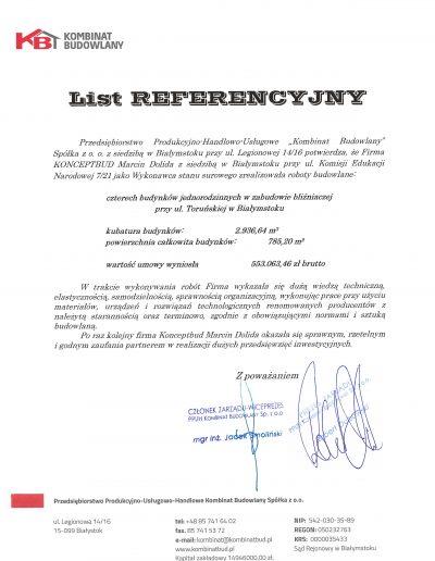 referencje Kombinat_Toruńska