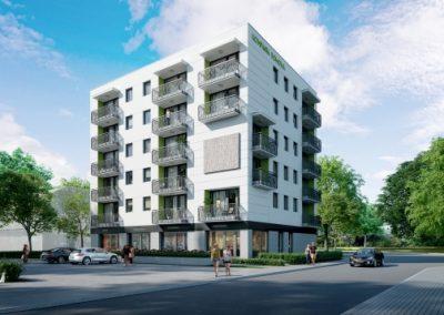Realizacja budynku wielorodzinnego w Warszawie przy ul. Wejherowskiej / Prałatowskiej