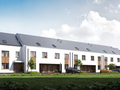 Realizacja osiedla budynków jednorodzinnych w zabudowie szeregowej w Zambrowie przy ul. Pileckiego (1 etap)